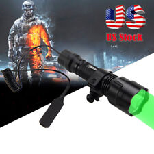 5000LM C8 Green Light LED Hog Night Hunting Flashlight Rifle Picatinny Mount USA