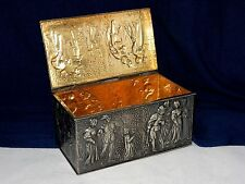 "RARE 1899 DERBY S.P. CO INTERNATIONAL 5.5"" EPWM SILVERPLATE REPOUSSE TRINKET BOX"