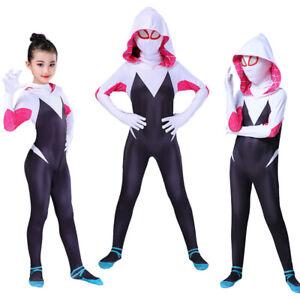 Spider Gwen Girls Womens Fancy Dress Superhero Jumpsuit Party Cosplay Body Suit