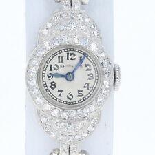 Art Deco Ladies Hamilton Diamond Watch - 900 Platinum 2Yr Warranty Mechanical