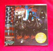 Motley Crue Girls Girls Girls SHM MINI LP CD JAPAN UICY-93493