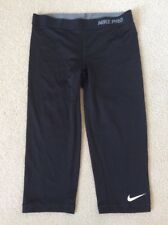 Women's Nike Pro Capri II Compression Tights Black 458659-010 Size Medium