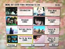 Button & FREE SWING OUT SISTER Music Video Collection & Live 1986-1994 DVD