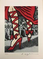 "Art Spiegelman - Serigrafia originale firmata accompagnata da ""Baci da New York"""