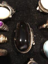 Black Onyx Vintage Ring Size 7