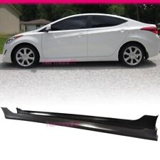 Fits 2010-2013 Hyundai Elantra 4Dr PP Material Side Skirt Pair OE Style