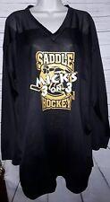 American Sports Apparel Mens Black Hockey Jersey Long Sleeve Size XL L10