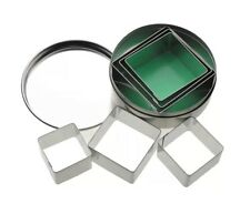 Kitchen Craft Set of 6 Square Shaped Pastry & Cookie Cutters With Storage Tin