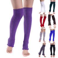 Women Girls Winter Warm Leg Warmers Knit Thigh High Over The Knee Socks Leggings