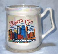 Vintage Souvenir Kansas City Skyline 🏙 Lusterware Lipco Coffee/Mug Tea/Cup