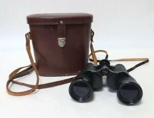 Vintage Carl Zeiss Jena Dekarem 10 x 50 Binoculars With Original Leather Case