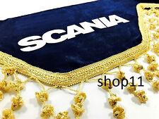 Scania Gardinen Frontscheibe Verzierung Scheibenborde Vorhänge blau Gold