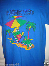 PUERTO RICO GREEN FROG PALM TREES LOUNGING COCKTAIL UMBRELLA SIZE SMALL S