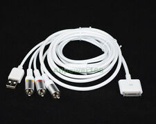 ROCKETFISH COMPOSITE AV/USB CABLE for iPhone 4 4S iPad Touch Nano TV Connection