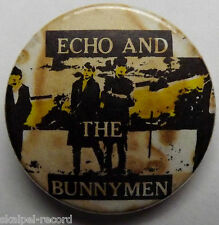 ECHO & THE BUNNYMEN Vtg 1980`s 25mm Button Pin Badge Post-Punk EB.105