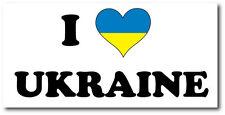 Io Amo Ucraina-Eastern Europe / EUROPA / Bandiera Adesivo Vinile - 30cm x 12cm
