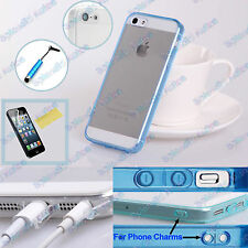 Ultra Thin Transparent Crystal Clear Soft Gel Case Anti Dust for iPhone 5 5S SE