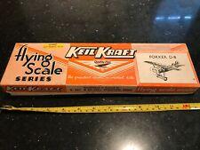 "✈️ Vintage/ Early KEIL KRAFT ""FOKKER D-8"" Flying Scale Series Balsa Aircraft Kit"