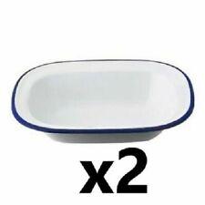 5 X Falcon Housewares 20cm Oblong Pie Dish Traditional Enamel Bakeware Cookware