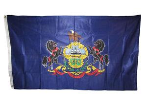 3x5 State of Pennsylvania Knitted Nylon Flag 3'x5'  Banner Brass Grommets