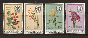SWAZILAND 1971, FLOWERS, Scott 183-186, MNH