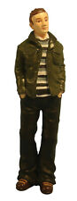 DOLLS HOUSE DOLL 1/12th SCALE MODERN MAN WITH GREEN JACKET RESIN  FIGURE