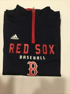 Boston Red Sox Youth 1/4 Zip Pullover  Adidas- Large 14/16