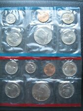 More details for usa 1980 cent ~ $1 moon landing dollar ~ unc p & d marks 13 coin collection set