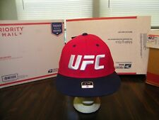 UFC REEBOK EMBROIDERED CAP HAT SIZE S/M RED OFFICIAL UFC FIGHT FOR PEACE NWT