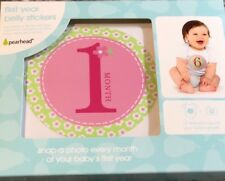 New Baby Girl First Year Belly Stickers By Pearhead, 12 Stickers