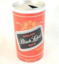Vintage Carling Black Label Beer Pull Tab Beer Can-Top Opened