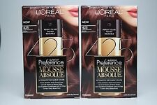 2 Pack L'Oreal Paris Superior Preference Mousse Absolue, 425 Dark Mahogany Brown