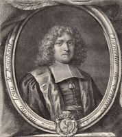Portrait XVIIIe Louis Boucherat Chancelier De France Intendant Guyenne Languedoc