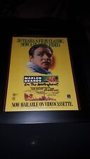 On The Waterfront Rare Original 30th Anniversary Promo Poster Ad Framed!