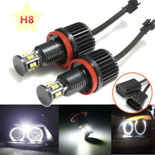 2x 120W H8 LED Angel Eye Halo Ring Light Bulb HID Xenon White For E82 E90 E60 X6