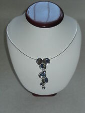 """Hagit Gorali Polished Drop With Omega, 23.0g Sterling Silver 16"""" + 4"""" Necklace"""
