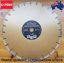 "18"" 450mm SEGMENTED DE BEERS DIAMOND CUTTING BLADE ASPHALT/GREEN CONCRETE - WET"