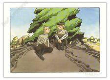 Affiche Le Gall Théodore Poussin buisson + Carte postale 150ex signé 28x38
