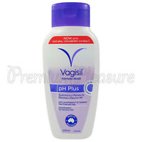 Vagisil pH Plus Intimate Wash Feminine with Natural Cranberry extract 240ml /8oz