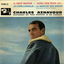 CHARLES AZNAVOUR IL FAUT SAVOIR FRENCH ORIG EP PAUL MAURIAT