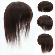 100% Real Remy Human Hair Topper Toupee Clip Hairpiece Lace Top Wig For Women