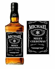 JD - Personalised Bottle Label - Merry Christmas  (Set 2) 10.5cm x 7.4cm