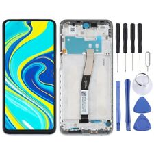 For Xiaomi Redmi Note 9S LCD Screen Touch Digitizer With Frame Assembly Silver