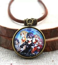 Sword Art Online Glass & Leather Rope Necklace Pendant 3cm US Seller