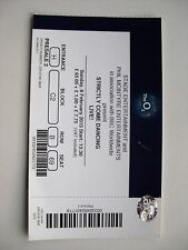 STRICTLY COME DANCING  O2 LONDON  08/02/2015  TICKET