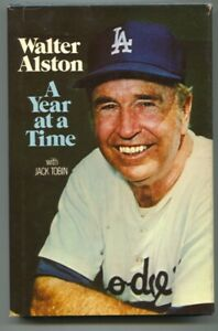 Walter Alston A Year At A Time 1976-Jack Tobinl-1st edition-baseball history-...
