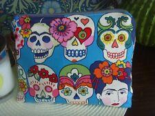 HANDMADE PURSE   SUGAR SKULL MEXICAN  ARTIST DESIGNERS GUILD 18cm x 14cm
