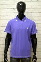Polo LOTTO Uomo Taglia Size XL Maglia Maglietta Camicia Shirt Man Cotone Viola