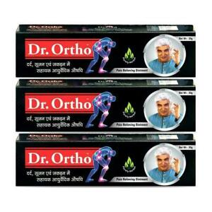 3 Pack | Dr.Ortho Ointment Ayurvedic Pain Relieving 30 gm / 1.05 oz - F/Ship