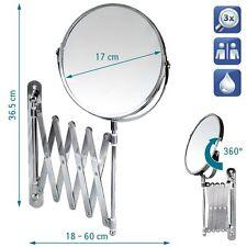 Espejo de Pared Cosmético Maquillaje Telescópico 3X Ampliacion Espejo Baño NUEVO